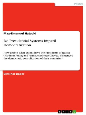 cover image of Do Presidential Systems Imperil Democratization
