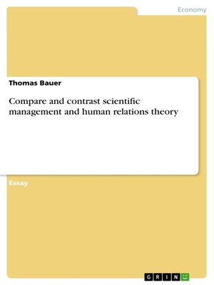 cover image of Compare and contrast scientific management and human relations theory