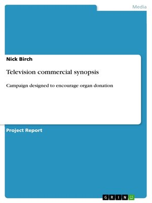 cover image of Television commercial synopsis