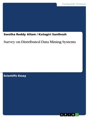 cover image of Survey on Distributed Data Mining Systems