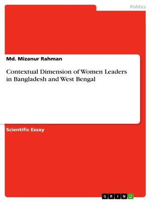 cover image of Contextual Dimension of Women Leaders in Bangladesh and West Bengal