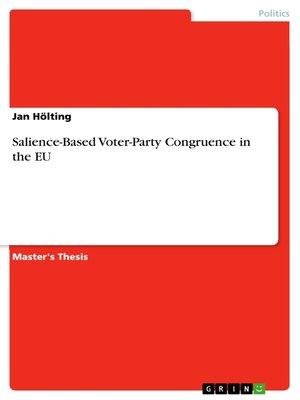 cover image of Salience-Based Voter-Party Congruence in the EU
