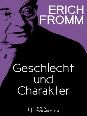 cover image of Geschlecht und Charakter