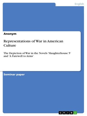 cover image of Representations of War in American Culture
