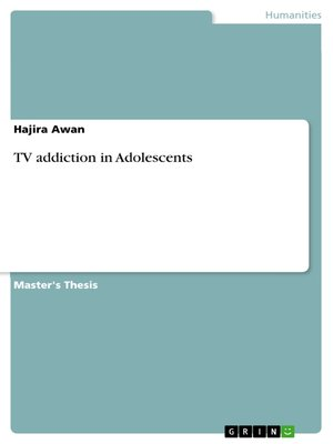cover image of TV addiction in Adolescents