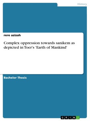 cover image of Complex oppression towards sanikem as depicted in Toer's 'Earth of Mankind'
