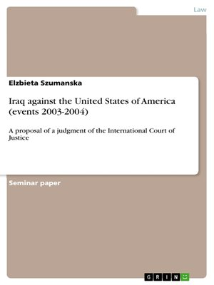 cover image of Iraq against the United States of America (events 2003-2004)