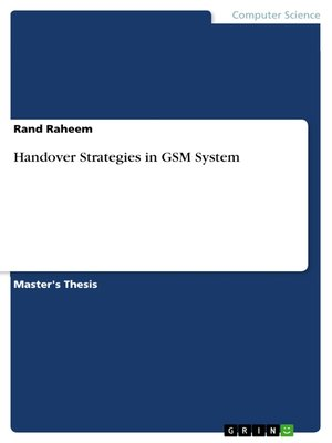 cover image of Handover Strategies in GSM System