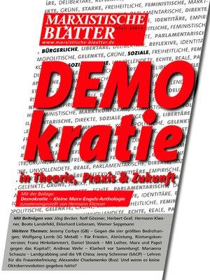 cover image of DEMOKRATIE in Theorie, Praxis und Zukunft