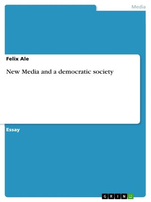 cover image of New Media and a democratic society