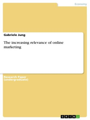 cover image of The increasing relevance of online marketing