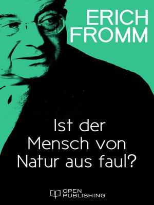cover image of Ist der Mensch von Natur aus faul?