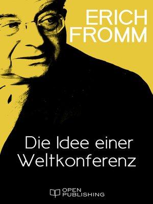 cover image of Die Idee einer Weltkonferenz
