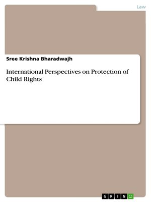 cover image of International Perspectives on Protection of Child Rights