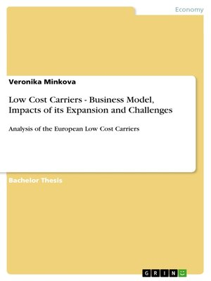 cover image of Low Cost Carriers--Business Model, Impacts of its Expansion and Challenges