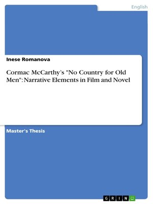"cover image of Cormac McCarthy's ""No Country for Old Men"""