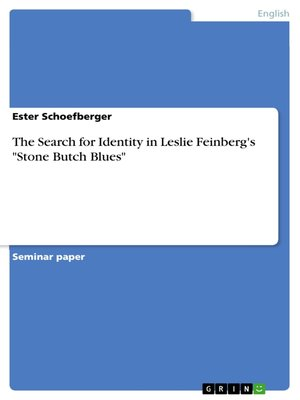"cover image of The Search for Identity  in Leslie Feinberg's ""Stone Butch Blues"""