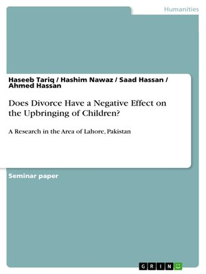 cover image of Does Divorce Have a Negative Effect on the Upbringing of Children?