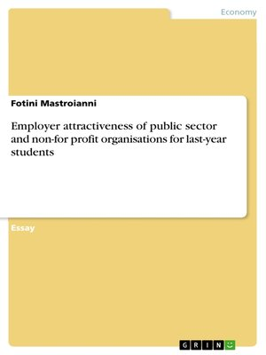 cover image of Employer attractiveness of public sector and non-for profit organisations for last-year students