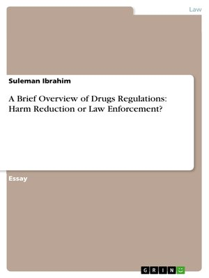 cover image of A Brief Overview of Drugs Regulations