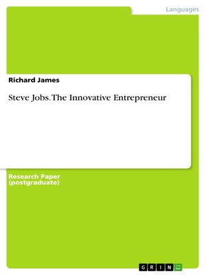 cover image of Steve Jobs. the Innovative Entrepreneur
