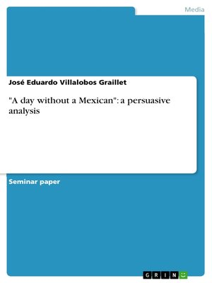 """cover image of """"A day without a Mexican"""""""