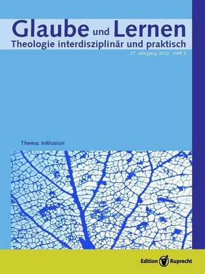 cover image of Themenheft »Inklusion«