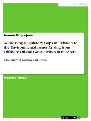 cover image of Addressing Regulatory Gaps in Relation to the Environmental Issues Arising from Offshore Oil and Gas Activities in the Arctic