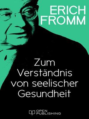 cover image of Zum Verständnis von seelischer Gesundheit