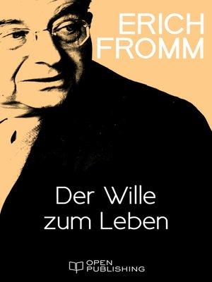 cover image of Der Wille zum Leben