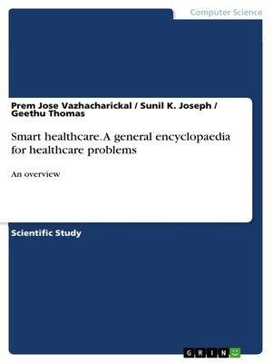 cover image of Smart healthcare. a general encyclopaedia for healthcare problems
