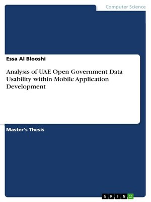 cover image of Analysis of UAE Open Government Data Usability within Mobile Application Development