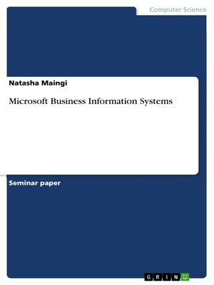cover image of Microsoft Business Information Systems