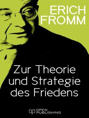 cover image of Zur Theorie und Strategie des Friedens