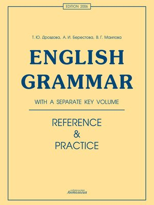 cover image of English Grammar. Reference & Practice