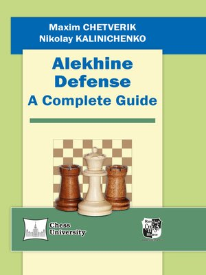 cover image of Alekhine Defense. a Complete Guide