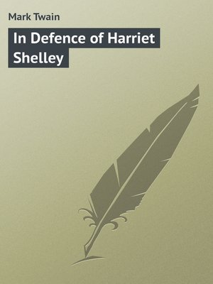 cover image of In Defence of Harriet Shelley