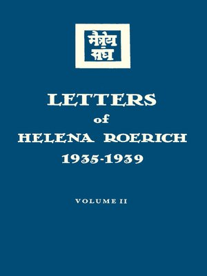 cover image of Letters of Helena Roerich. 1935–1939. Volume II