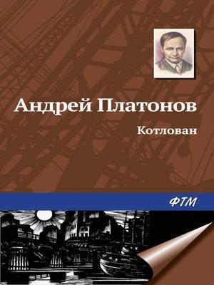 cover image of Котлован