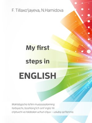 cover image of My first steps in English