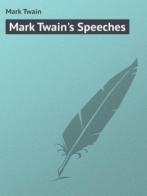 cover image of Mark Twain's Speeches