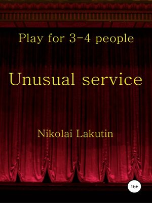 cover image of Unusual service. Play for 4-5 people