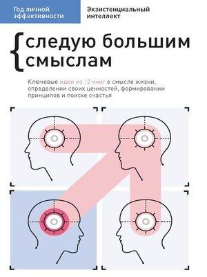 cover image of Год личной эффективности. Cледую большим смыслам. Экзистенциальный интеллект