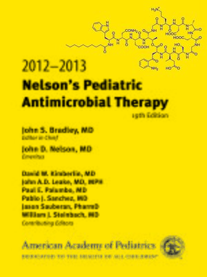 cover image of 2012-2013 Nelson's Pediatric Antimicrobial Therapy