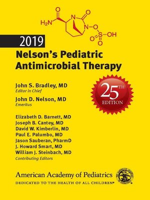 cover image of 2019 Nelson's Pediatric Antimicrobial Therapy