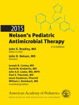 cover image of 2015 Nelson's Pediatric Antimicrobial Therapy, 2