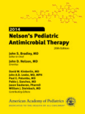 cover image of 2014 Nelson's Pediatric Antimicrobial Therapy