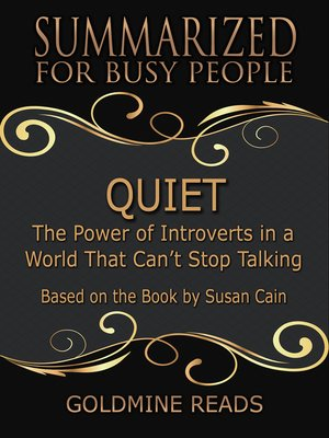 cover image of Quiet - Summarized for Busy People
