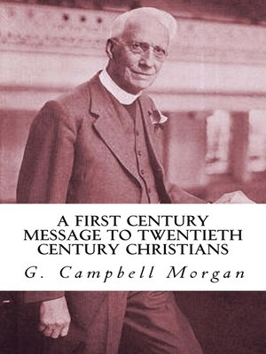 cover image of A First Century Message to Twentieth Century Christians