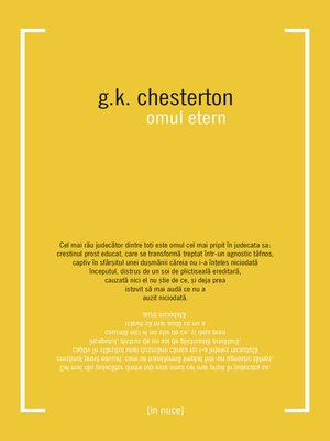 cover image of Omul etern